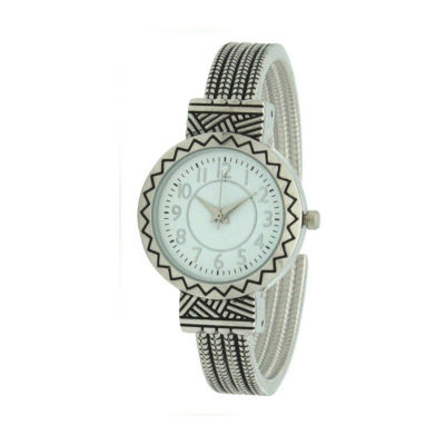 Olivia Pratt Womens Silver Tone Strap Watch-A917604silver