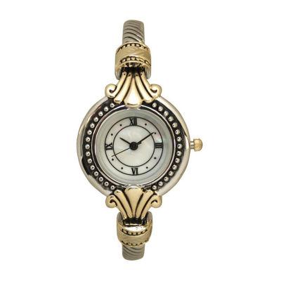 Olivia Pratt Womens Two Tone Strap Watch-A915789twotone