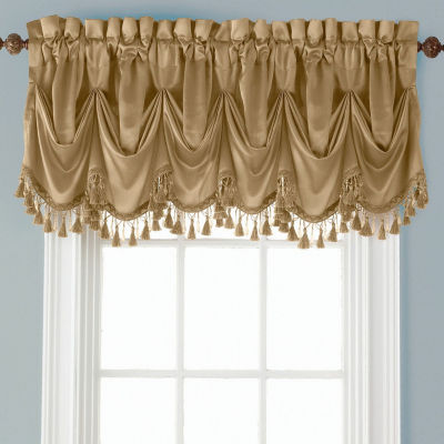 JCPenney Home Hilton Tuck Rod-Pocket Federal + Tuck Valance