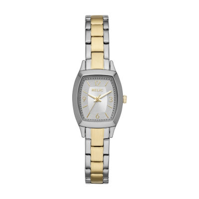 Relic By Fossil Womens Two Tone Bracelet Watch-Zr34501