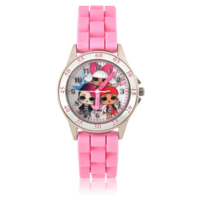 Unisex Pink Strap Watch-Lol9007jc