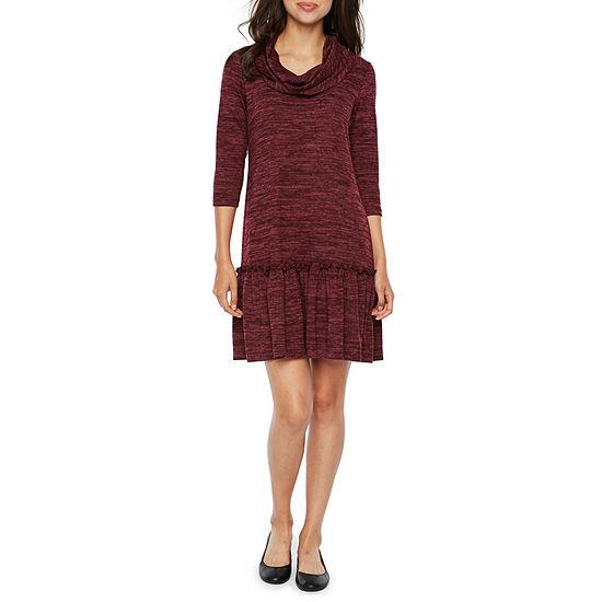 Vivi By Violet Weekend 3/4 Sleeve Shift Dress