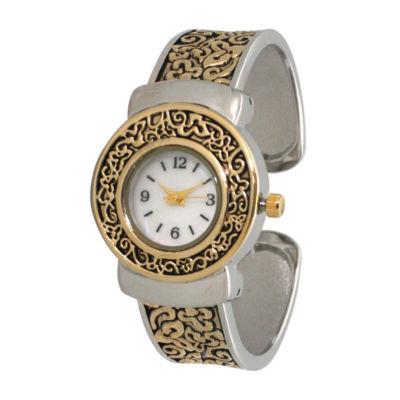 Olivia Pratt Womens Two Tone Strap Watch-A915887twotone