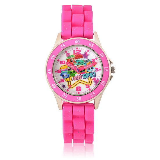 Shopkins Girls Pink Strap Watch-Kin9042jc