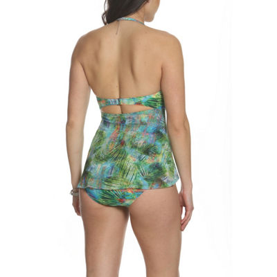Sun and Sea Desert Palms Fly Away Mesh One Piece Swimsuit