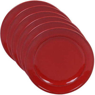 Certified International Orbit Red 6-pc. Dessert Plate