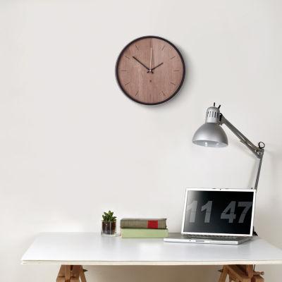 Umbra Madera Wall Clock 12.5in Black/Walnut Wall Clock-118413-048