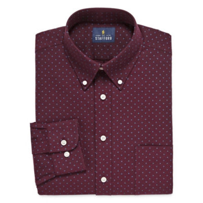 Stafford Travel Stretch Oxford Long Sleeve Dress Shirt