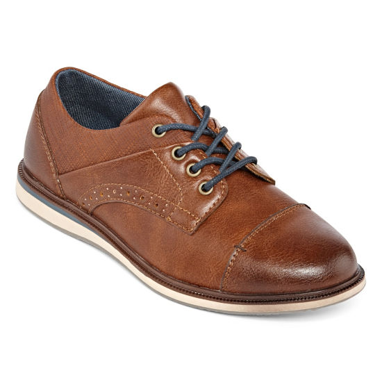 Arizona Little Kid/Big Kid Boys Barber Oxford Shoes Lace-up Round Toe