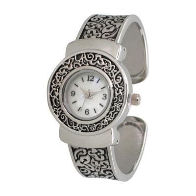Olivia Pratt Womens Silver Tone Strap Watch-A915887silver