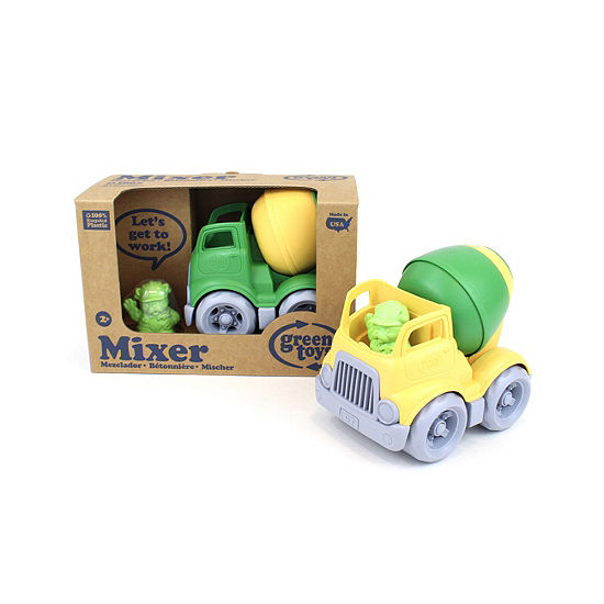 Green Toys Mixer Construction Truck - Green/Yellow
