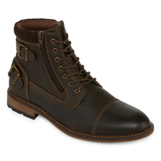 Arizona Mens Feldspar Chukka Flat Heel Lace-up Boots