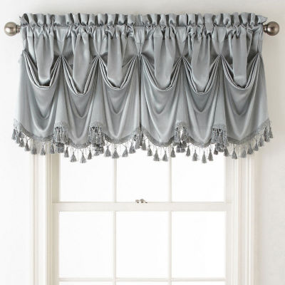 JCPenney Home Hilton Rod-Pocket Federal + Tuck Valance