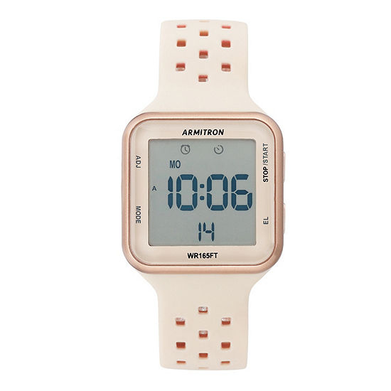 Armitron Pro Sport Unisex Adult Chronograph Multi-Function Digital Rose Goldtone Watch Boxed Set-40/8417pbh