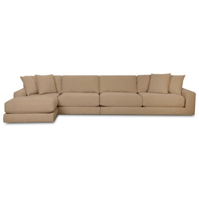 Fabric Possibilities Ponderosa 3-Pc Left Arm Chaise Sectional