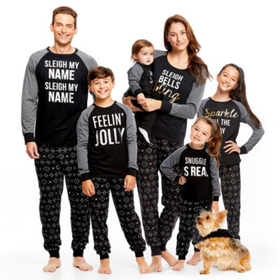Holiday #Famjams Black And Grey Fairisle Family Pajamas