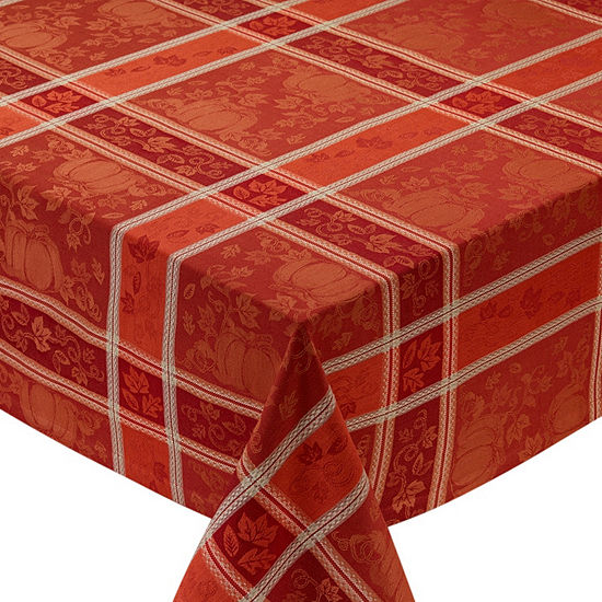 Design Imports Pumpkin Vine Jacquard Tablecloth