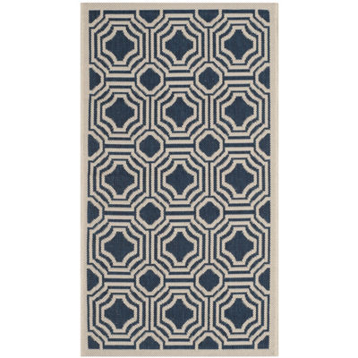 Safavieh Courtyard Collection Torma Geometric Indoor/Outdoor Area Rug