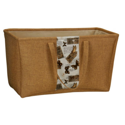 Household Essentials Rectangle Soft-Side Burlap Container