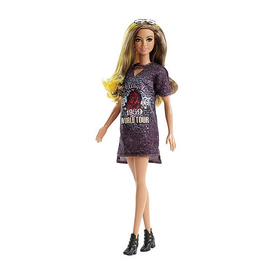 Barbie Fashionistas Rockstar Glam Doll