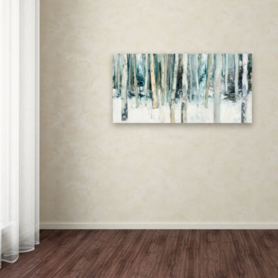 Trademark Fine Art Julia Purinton Winter Woods IIIGiclee Canvas Art