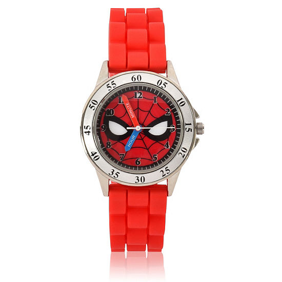 Marvel Spiderman Unisex Adult Red Strap Watch-Spd9040jc