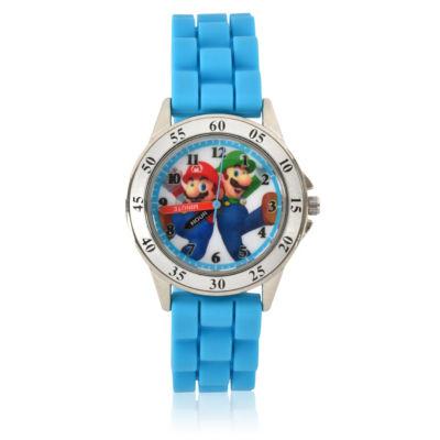 Super Mario Unisex Blue Strap Watch-Gsm9003jc