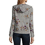 Rewind Womens Long Sleeve French Terry Hoodie-Juniors
