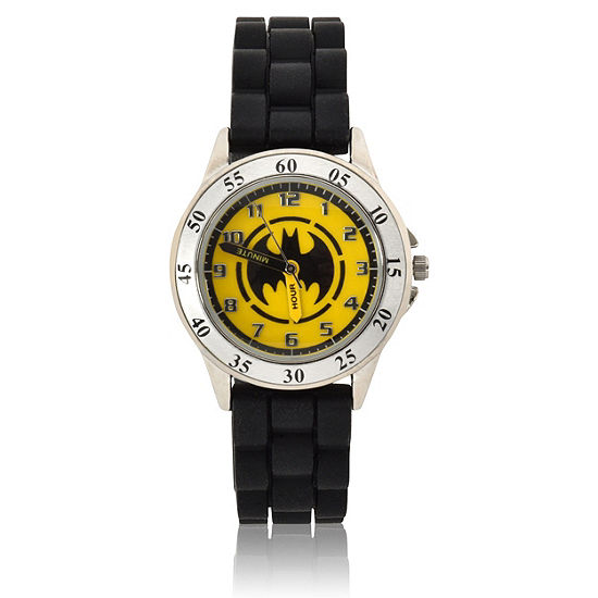 Time Teacher Batman Boys Black Strap Watch-Bat9522jc