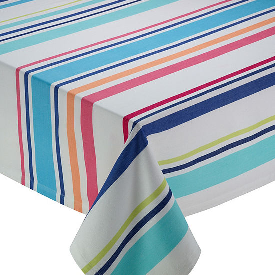 Design Imports Beachy Keen Stripe Tablecloth