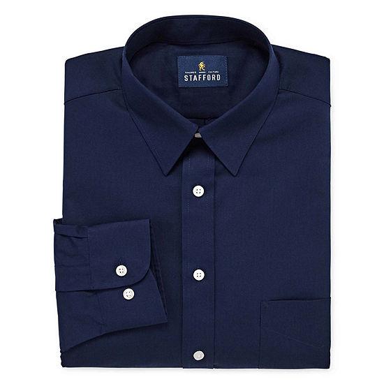 c27c5bc4455b Stafford Travel Stretch Performance Super Shirt Mens Point Collar Long  Sleeve Wrinkle Free Stretch Dress Shirt - JCPenney