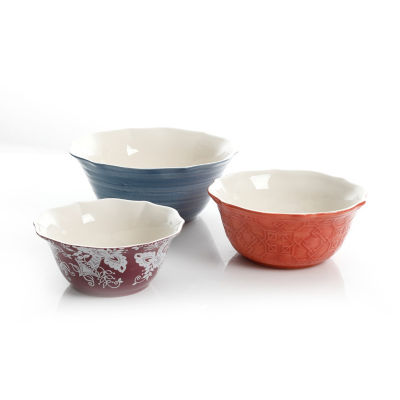 Certified International Poppy Garden Serving Bowl