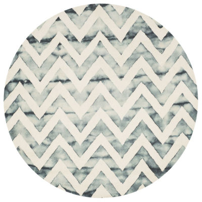 Safavieh Dip Dye Collection Ronnie Chevron Round Area Rug
