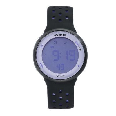 Armitron Unisex Black Watch Boxed Set-40/8423prb