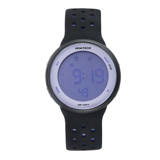 Armitron Pro Sport Unisex Black Watch Boxed Set-40/8423prb