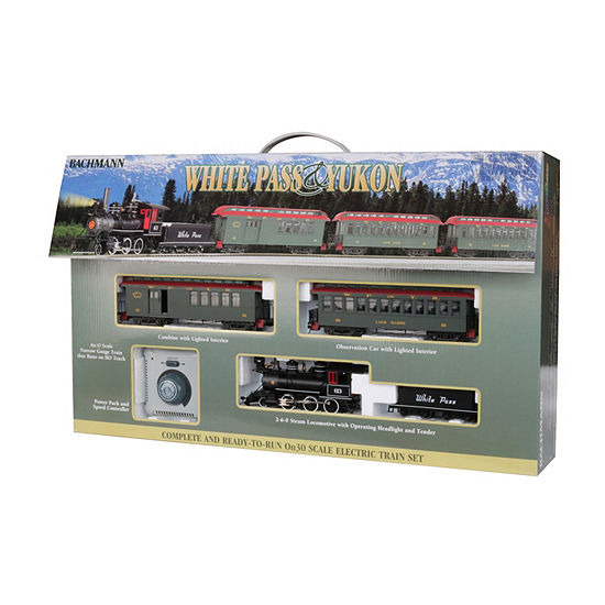 Bachmann Trains White Pass & Yukon Passenger Set Ready To Run Electric Train Set - On30 Scale