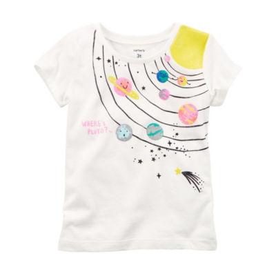 Carter's Short Sleeve Graphic T-Shirt-Toddler Girls 2T-5T