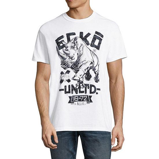 Ecko Unltd Mens Crew Neck Short Sleeve Logo Graphic T Shirt