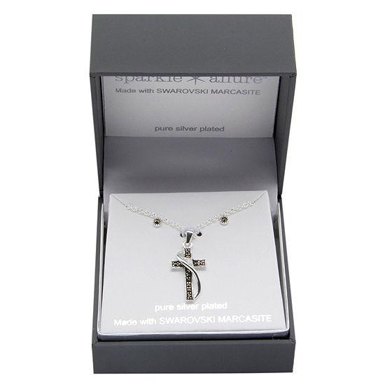 Sparkle Allure 2-pc. Pure Silver Over Brass Cross Jewelry Set