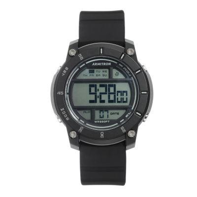Armitron Unisex Black Watch Boxed Set-40/8442blk