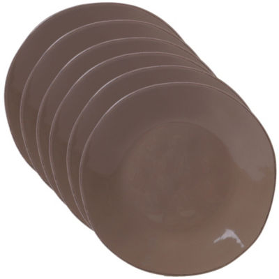 Certified International Harmony Taupe 6-pc. Dessert Plate
