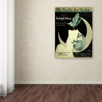Trademark Fine Art Vintage Apple Collection Art Deco Music Sheet Giclee Canvas Art
