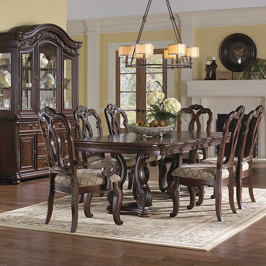 Montserrat Rectangular Wood-Top Dining Table