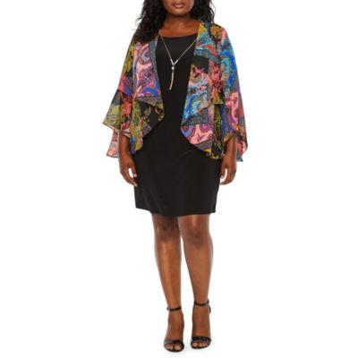 Tiana B 3/4 Sleeve Jacket Dress - Plus