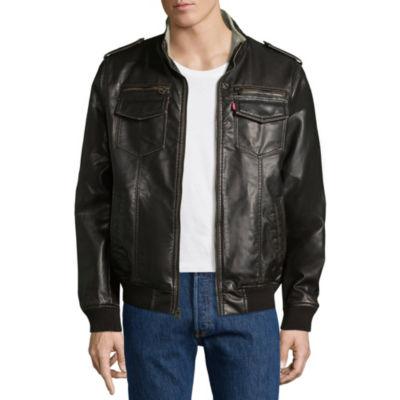 Levi's® Faux Leather Bomber Jacket