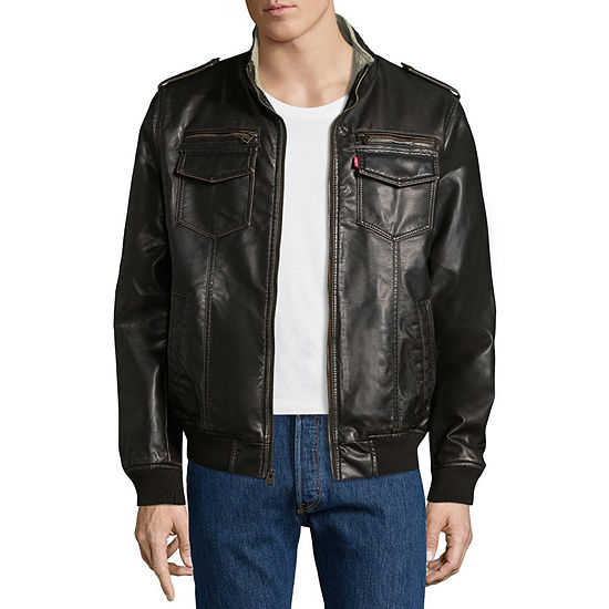 c063204cc Levi's® Faux Leather Bomber Jacket