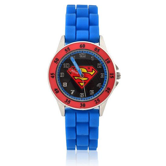 DC Comics Unisex Blue Strap Watch-Sup9232jc