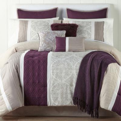 JCPenney Home Landon 10-pc. Comforter Set