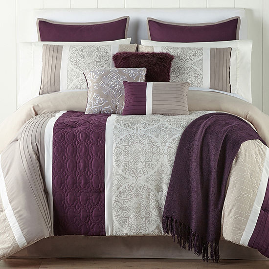 JCPenney Home Landon 10-pc. Comforter Set, Color: Multi