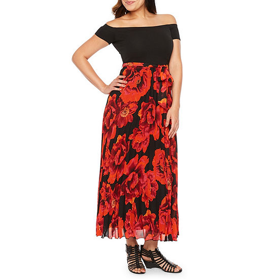 Premier Amour Short Sleeve Floral Maxi Dress Jcpenney